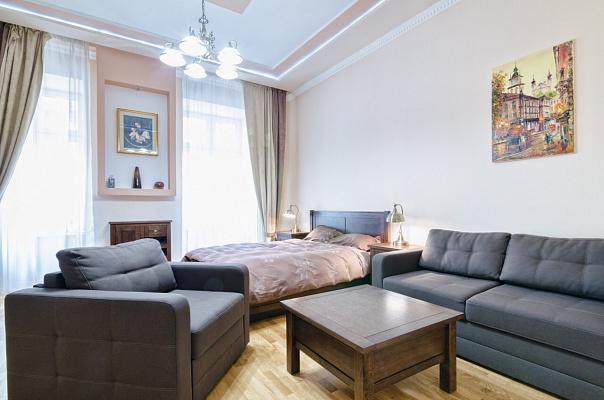 Однокомнатная квартирапосуточно в Львове, Галицкий район, ул. Гребинки, 9